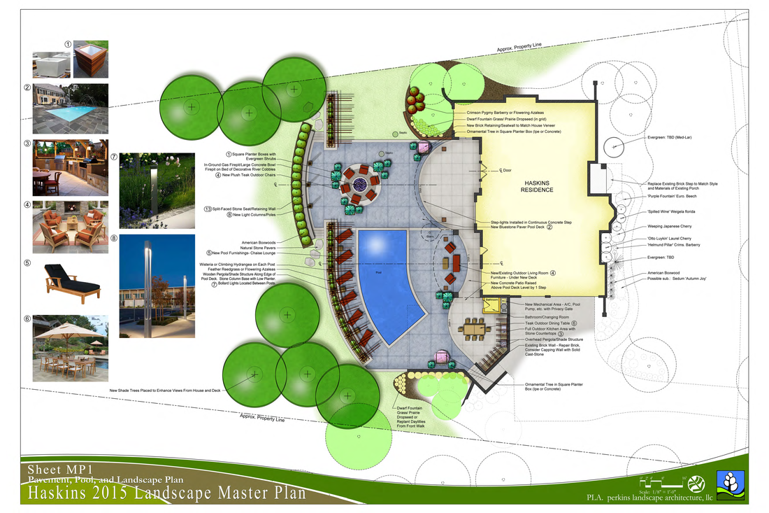 Residential design perkins landscape architecture llc for Landscape design sheets